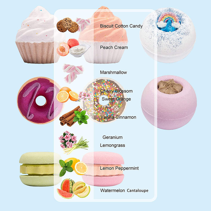 8 Piece, Bath Bombs Gift Set