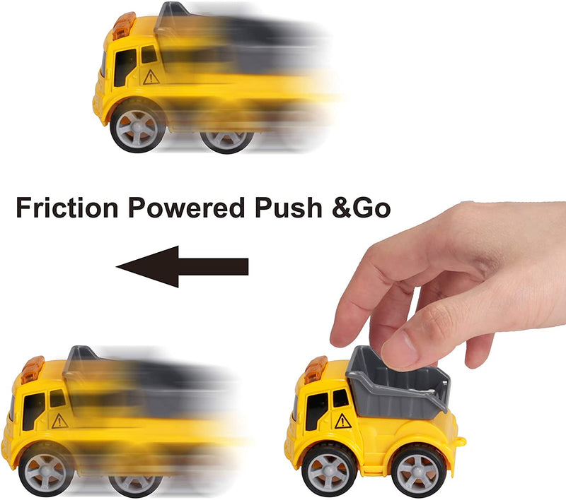 12 Piece Diecast Friction Powered City Hero Play