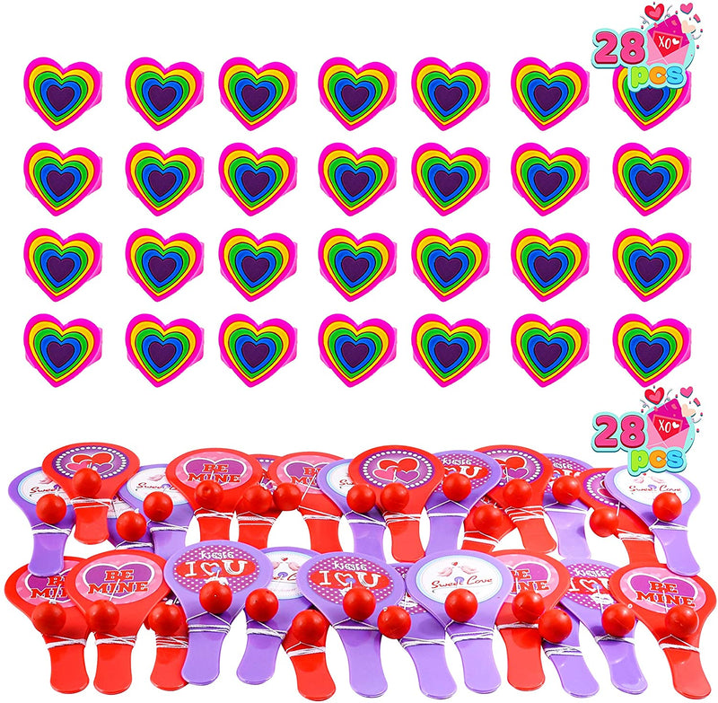 140 Pcs Valentines Day Stationery Set with Treat Bags for Kids