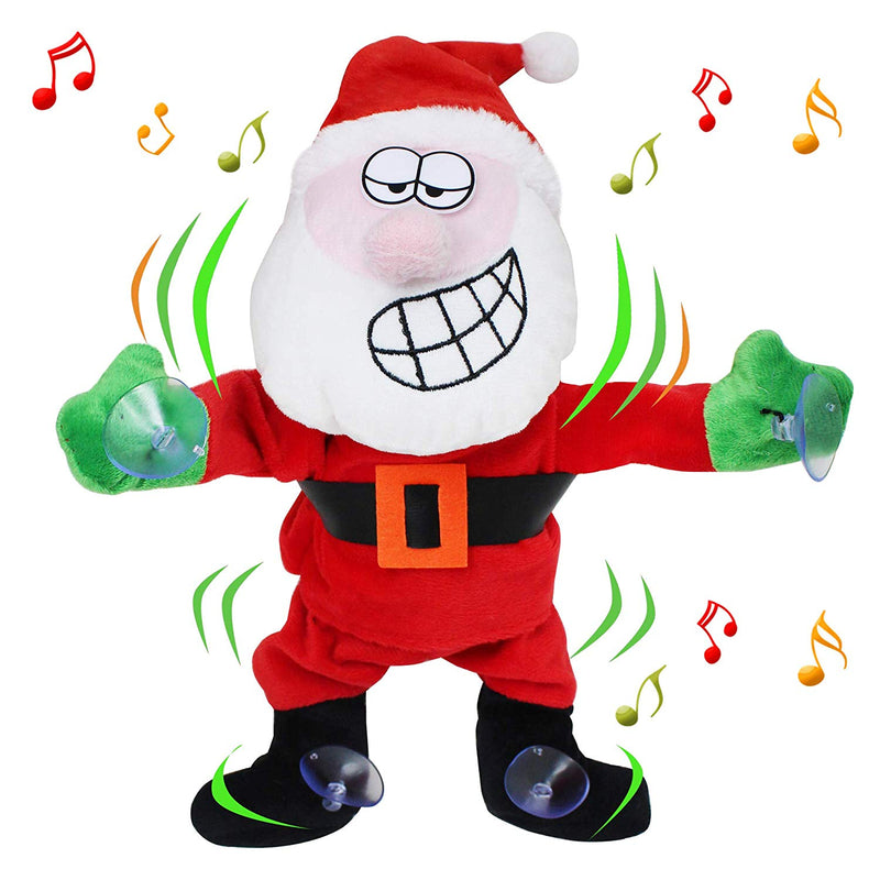 Dancing Santa Claus Window Cling