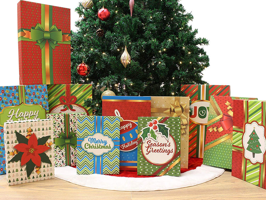 Christmas Holiday Gift Wrap Boxes with Lids