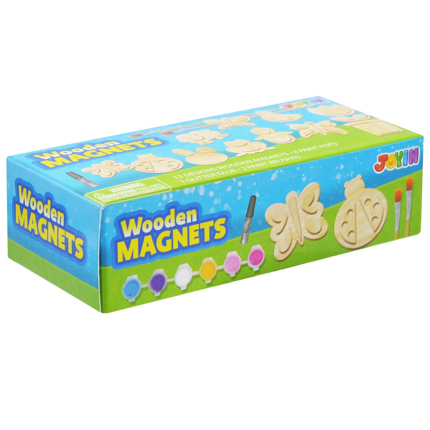 12 Wooden Magnet Creativity Arts & Crafts Painting Kit