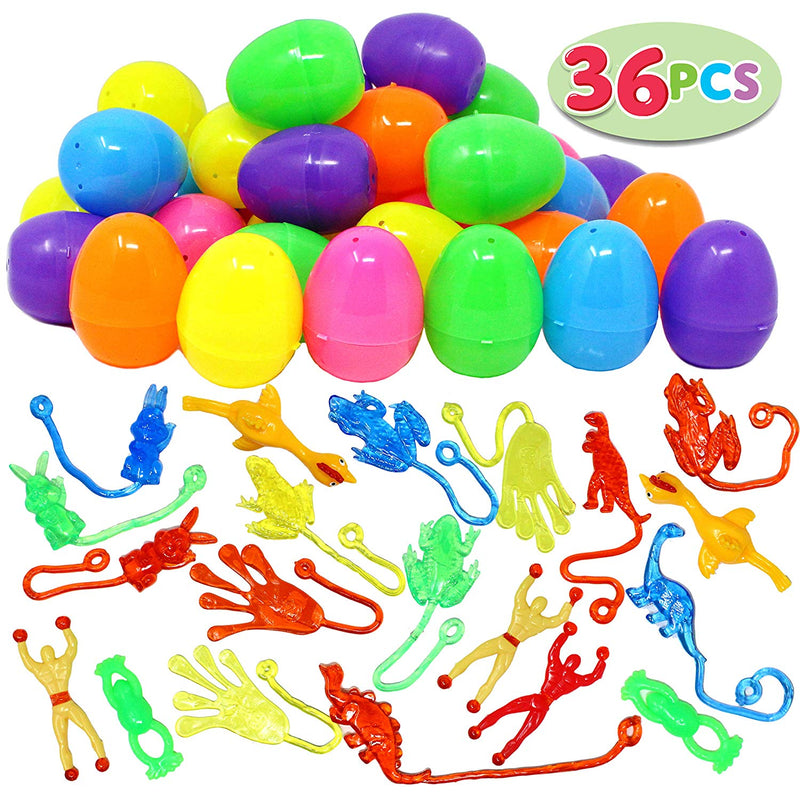Easter Eggs with Stretchy Sticky Toy