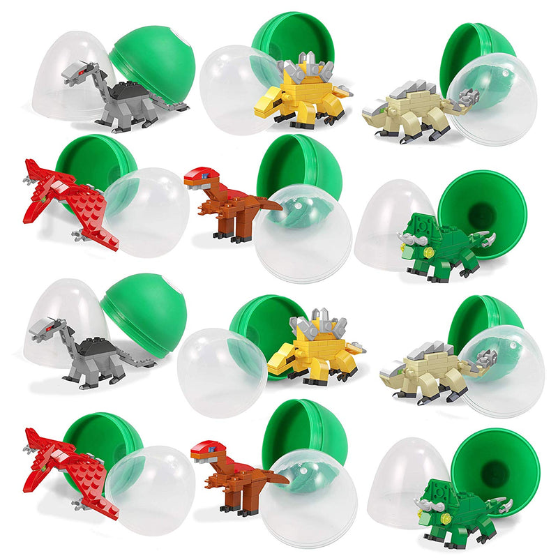PreFilled Easter Eggs with Dinosaurs Building Blocks