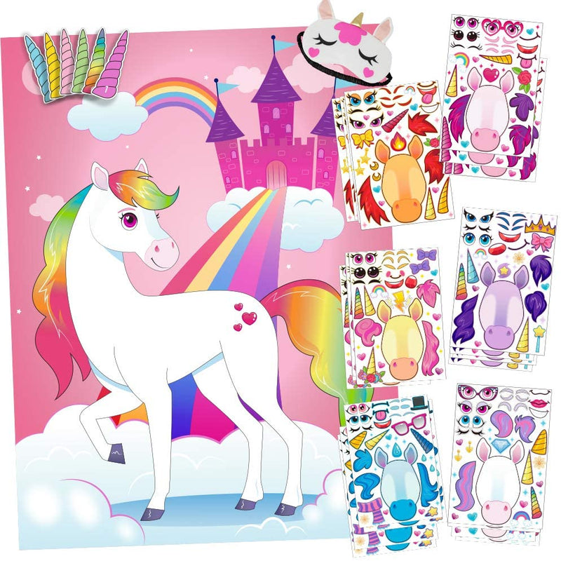 Unicorn Pin The Horn Sticker Mix & Match