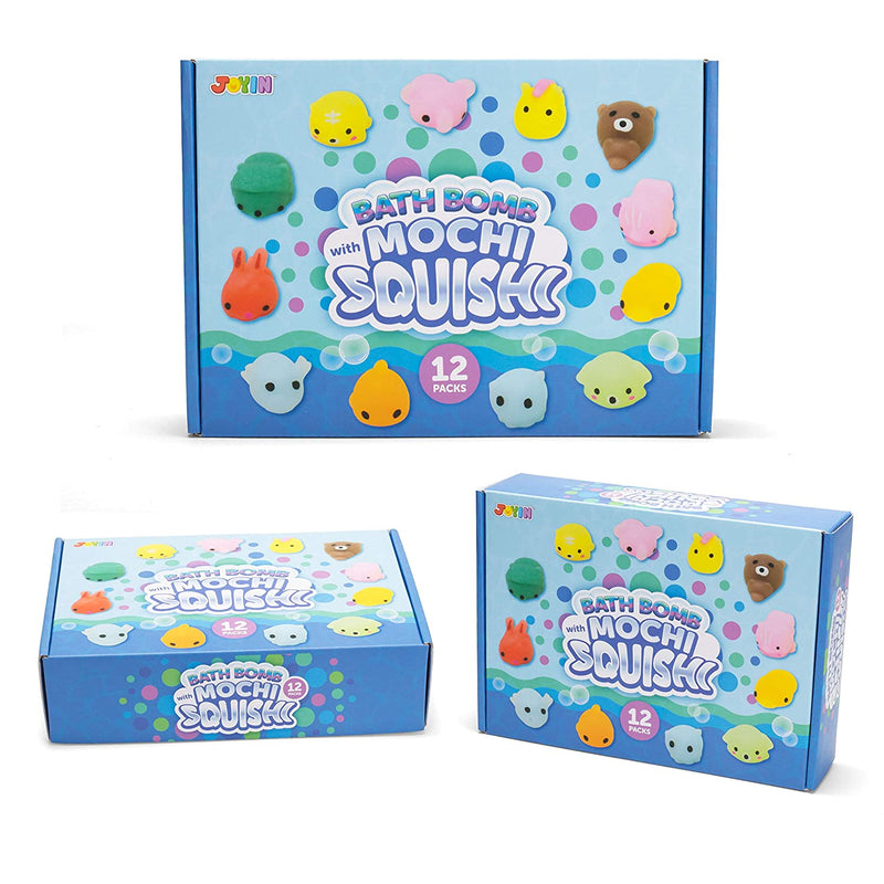 Bath Bombs for Kids with Mochi Squishy, 12 Pack