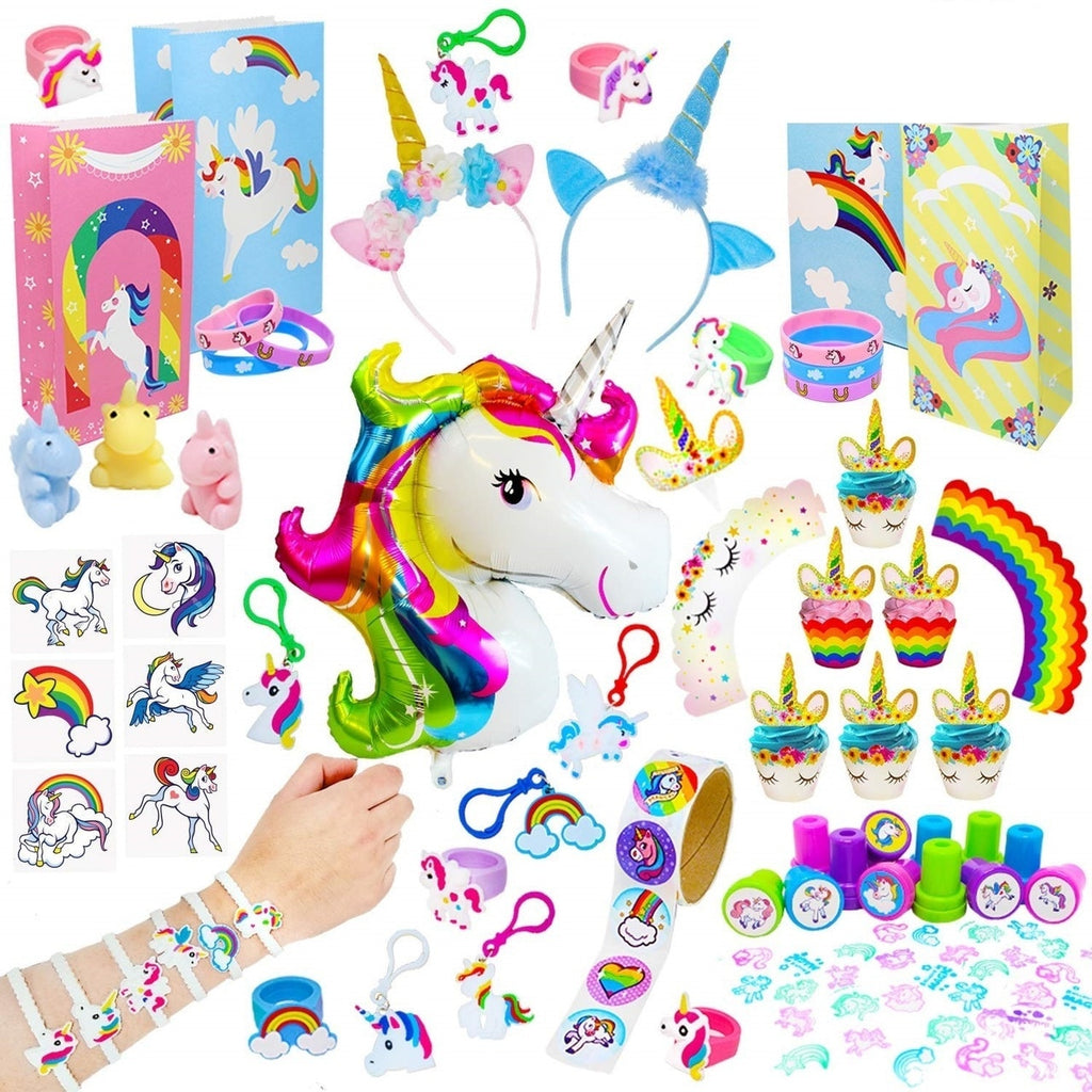 Unicorn Party Supplies Set 144-Piece Set