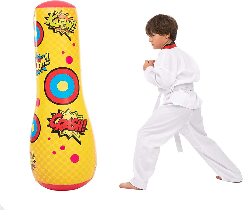 Inflatable Bopper Punching Bag with Bounce-Back Action