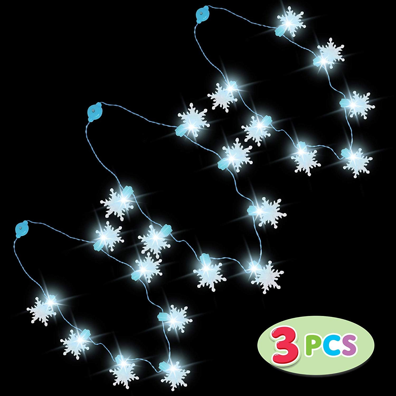 3 Piece Snowflakes Christmas Necklaces