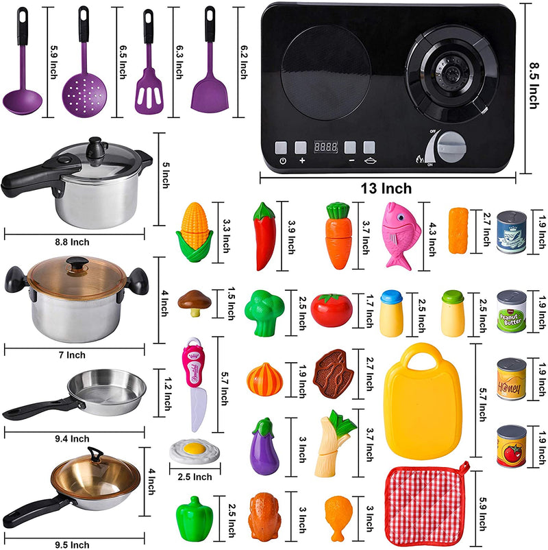 34 Piece Kitchen Pretend Play Cookware