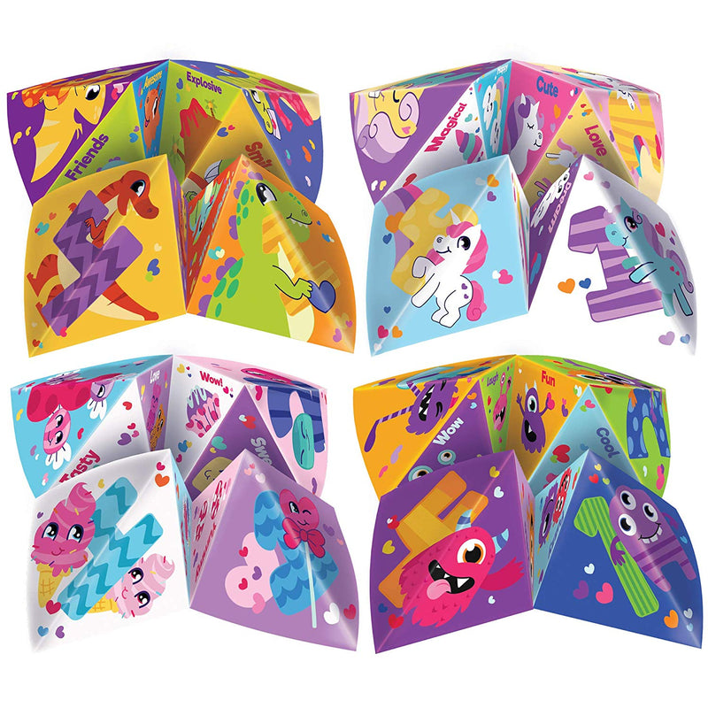 56Pcs Valentines Day Cootie Catcher Cards