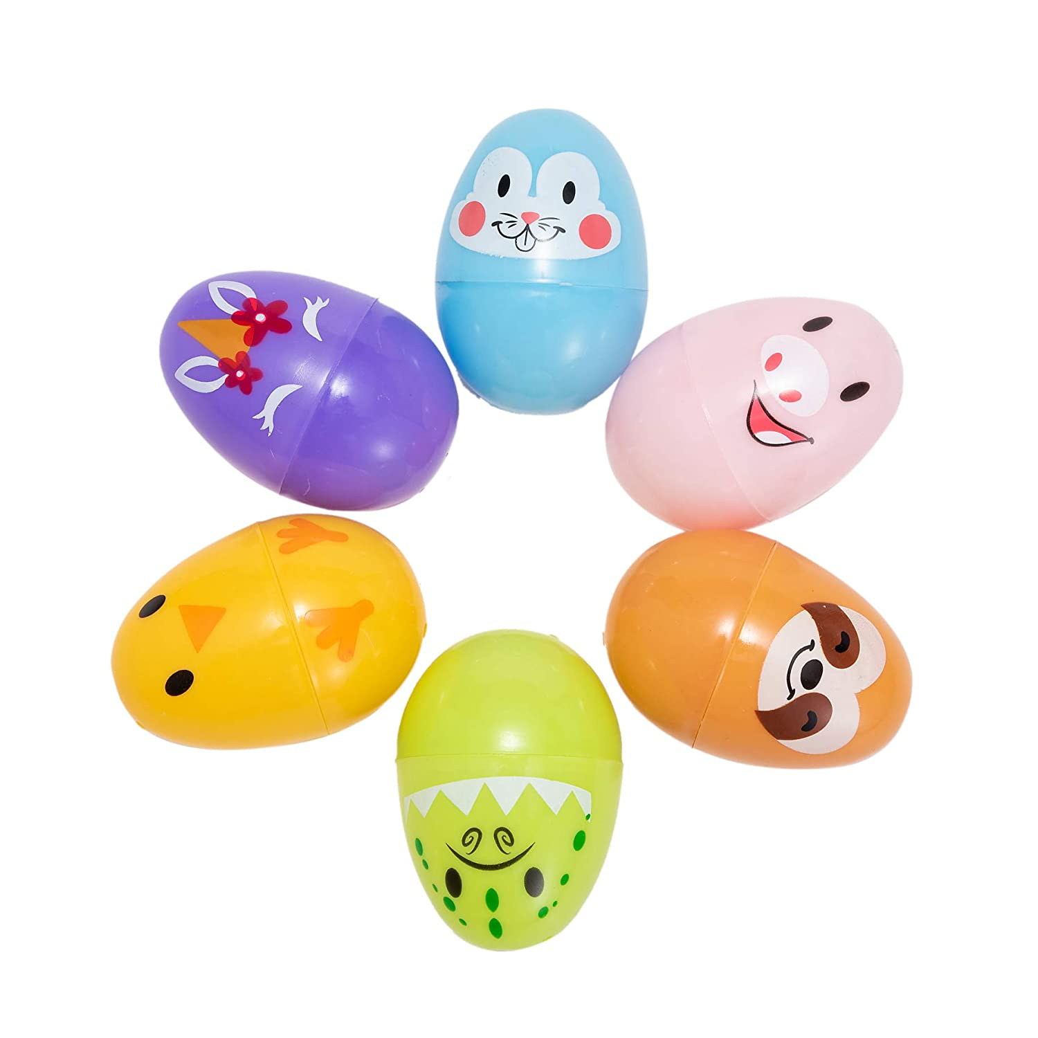 72 Pcs Animal Decorated Easter Egg