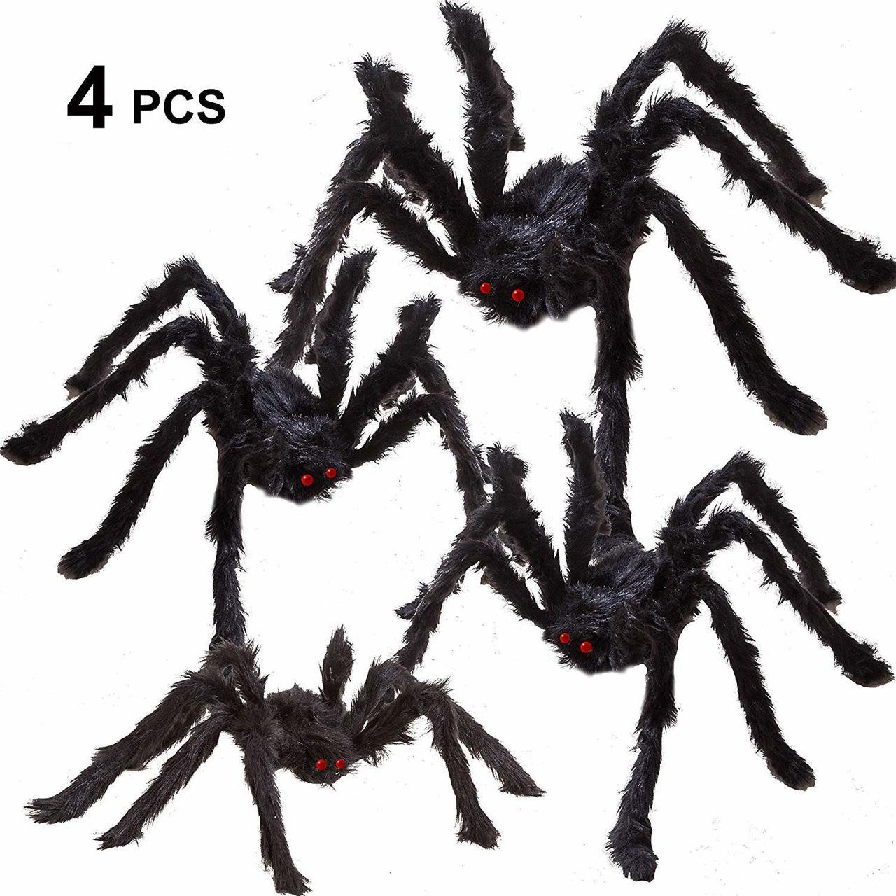 Hairy Spiders 4-Pack
