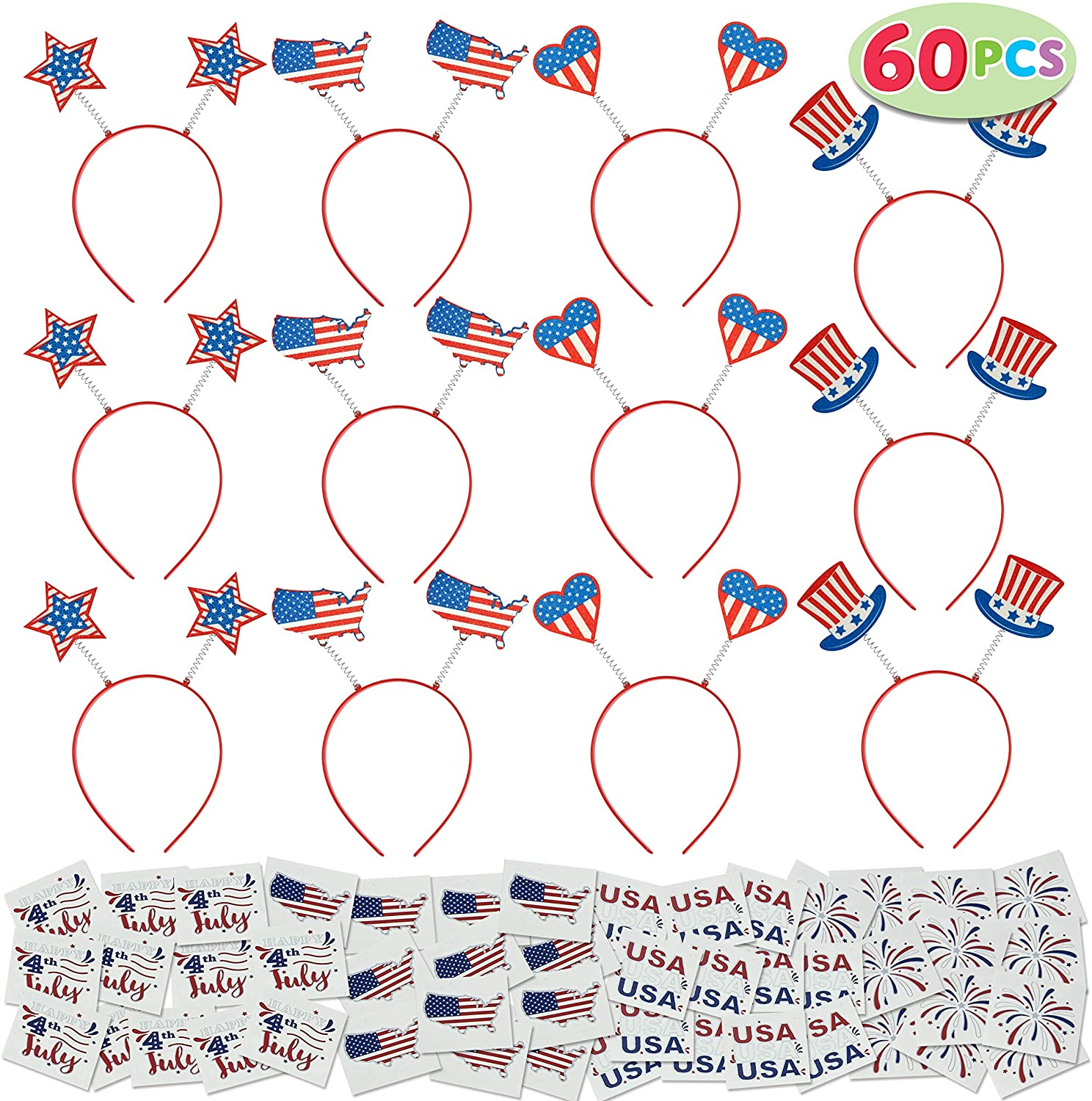 60 Pcs Patriotic Party Favor