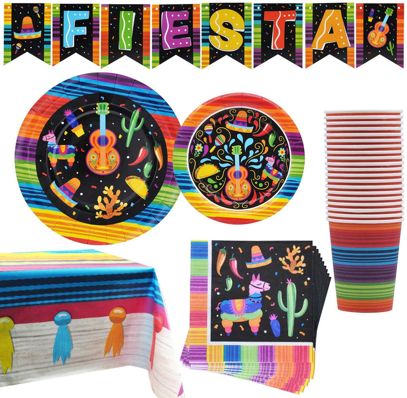 Mexican Themed Fiesta Party Supplies Set