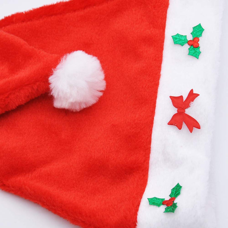 Santa Hats with Jingle Bell Necklaces