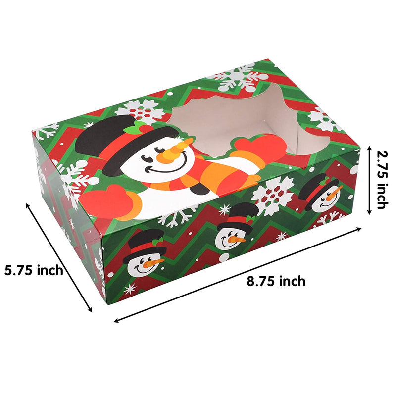 24 Piece Christmas Foil Bakery Cookie Gift Box