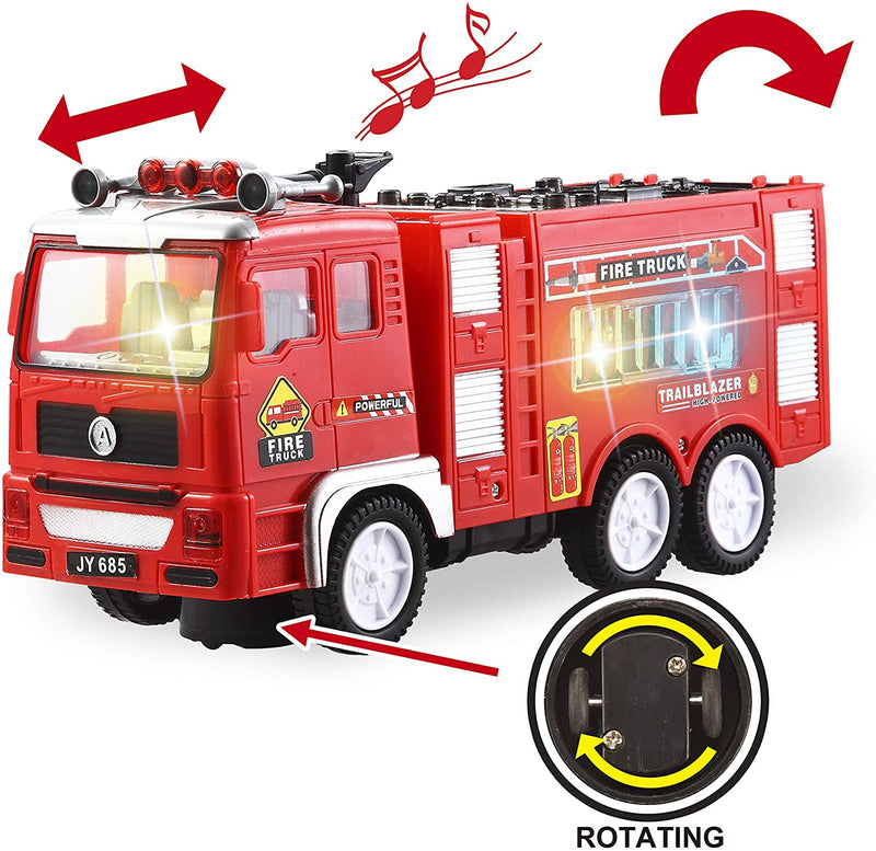 Auto Moving-Around Siren Fire Engine and Helicopter