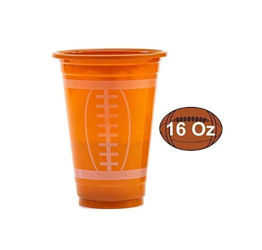 72 Pack Touchdown Football Themed Cups