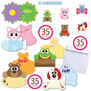 35 Packs Valentines Day Gifts Cards for Kids