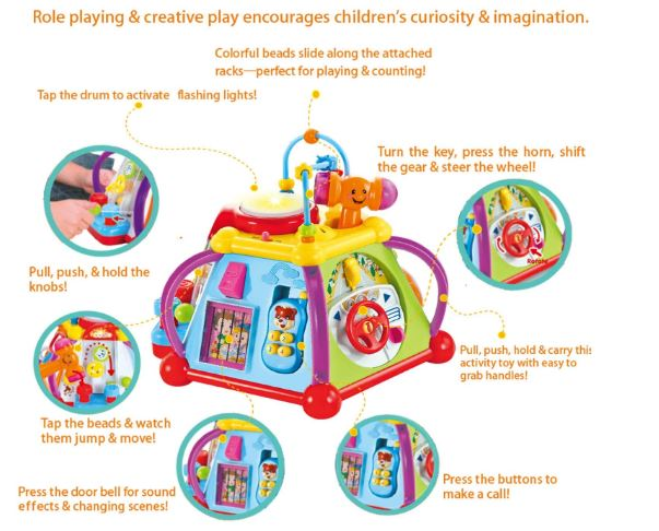 TODDLER MUSICAL CUBE PLAY LEARNING CENTER