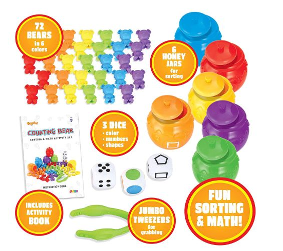 Play-Act Counting/Sorting Bears Toy Set