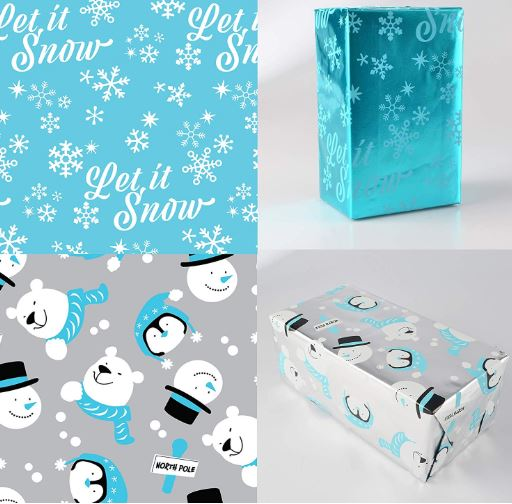 6 ROLLS FOIL WRAPPING PAPER SET