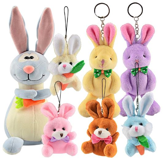 Pre-Filled Easter Eggs with Plush Bunny, Jumbo 7""