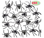 "288 Pieces 2"" Plastic Spiders Rings Bulk"