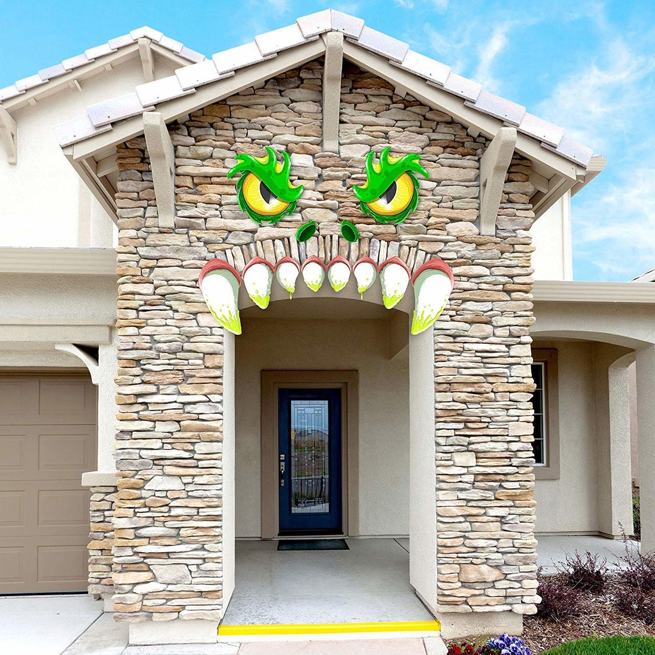 Monster Face Archway Garage Decoration