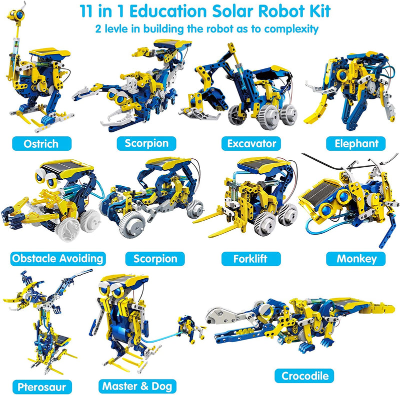 Solar Robot Toys 11 in 1 Educational STEM Learning