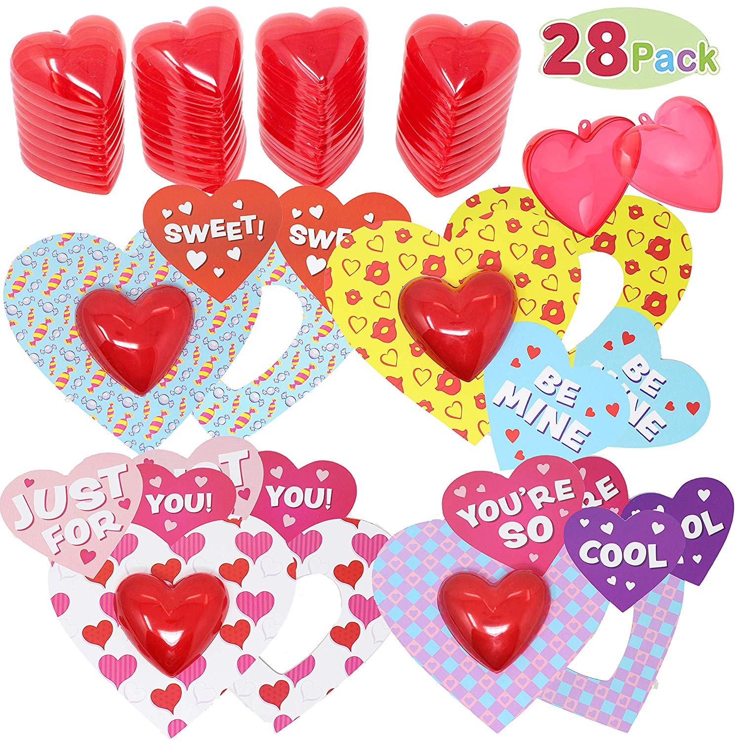 Valentine Cards s with Translucent Hearts