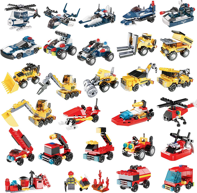 2020 Christmas Advent Calendar Toys with Vehicle Building Blocks