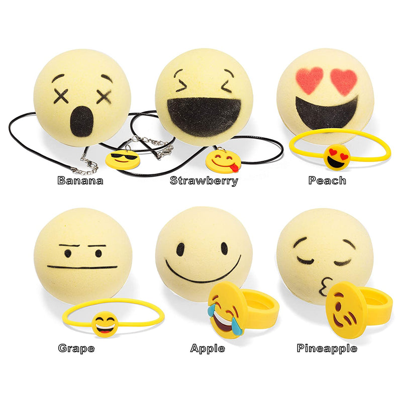 Emoji Bath Bombs with Toys