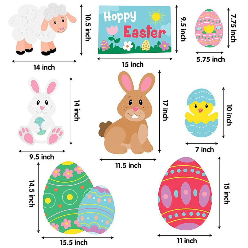 8 PCS EASTER YARD OUTDOOR DECORATIONS