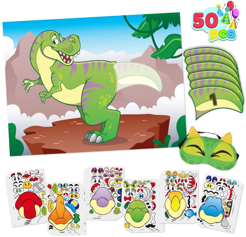 T-Rex Pin The Tail Sticker Mix and Match
