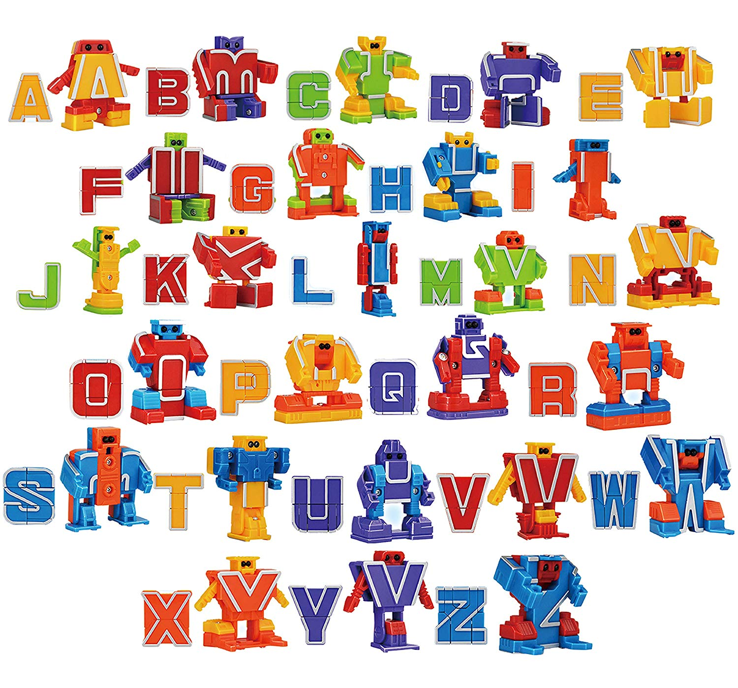 Alphabet Robot Action Figure Toys