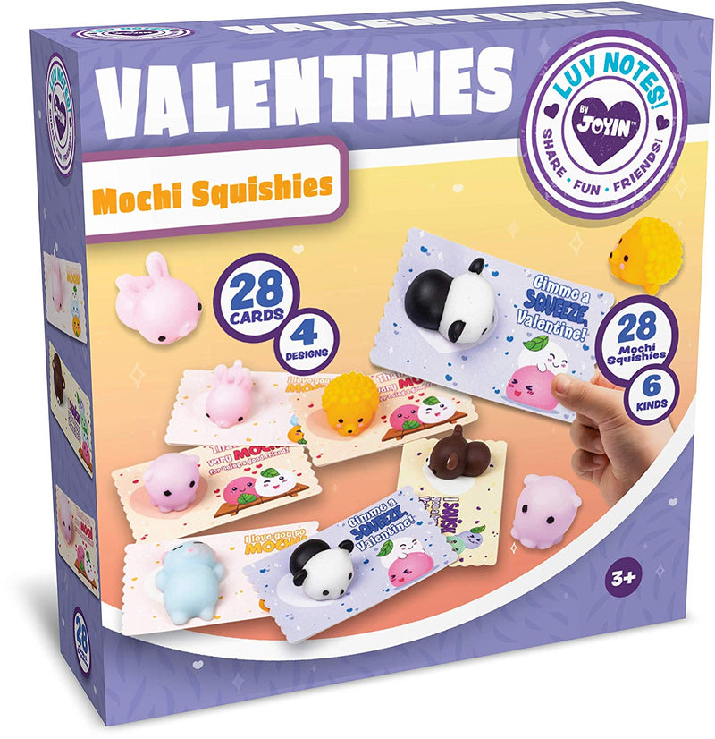 Valentines Day Gift Cards with Mini Kawaii Mochi