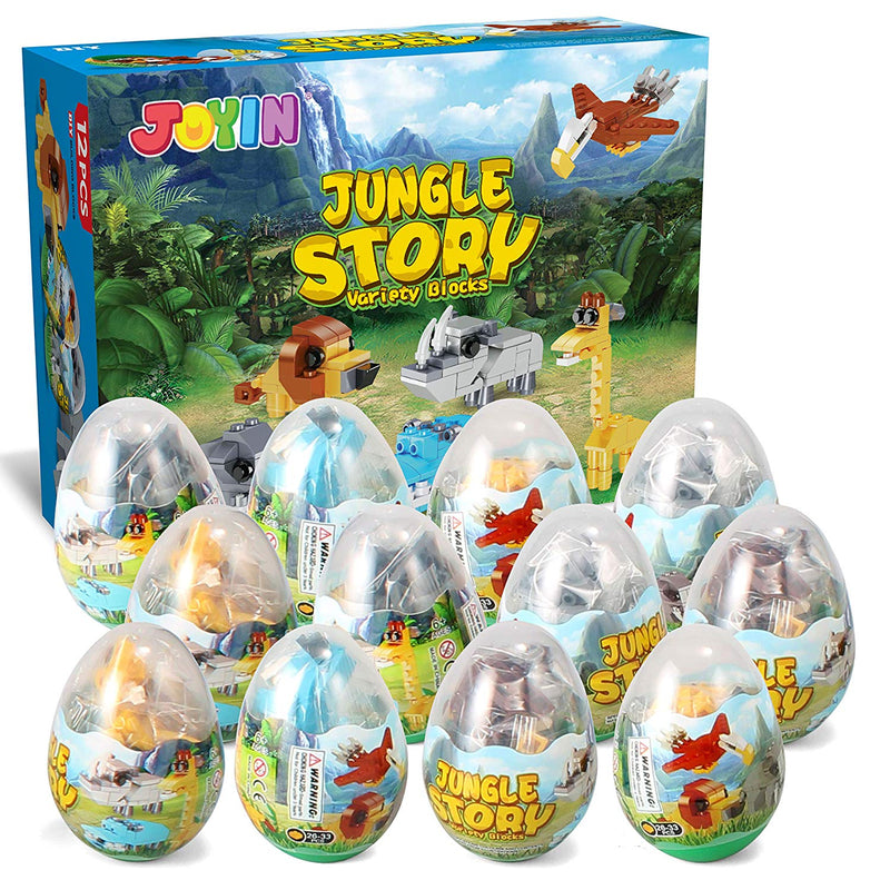 PreFilled Easter Eggs with Jungle Animals