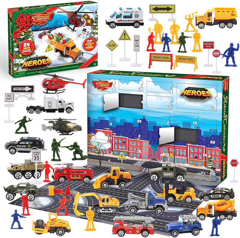 2020 Christmas Advent Calendar with Die-Cast Essential Vehicles