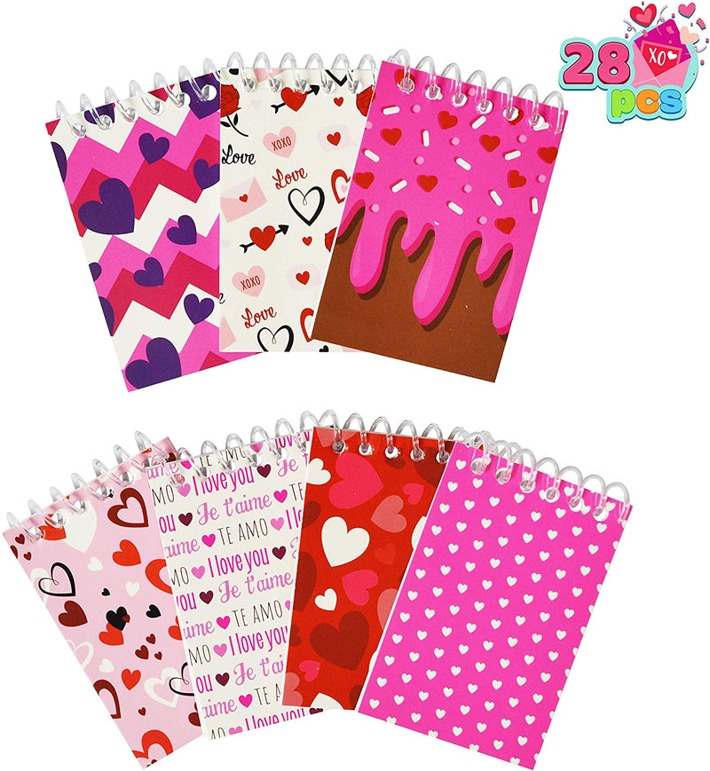 28 Pack Valentines Day Stationery Set with Treat Bags for Kids