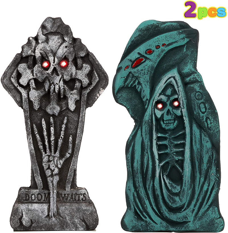 LED Graveyard Tombstone, 2 Pack