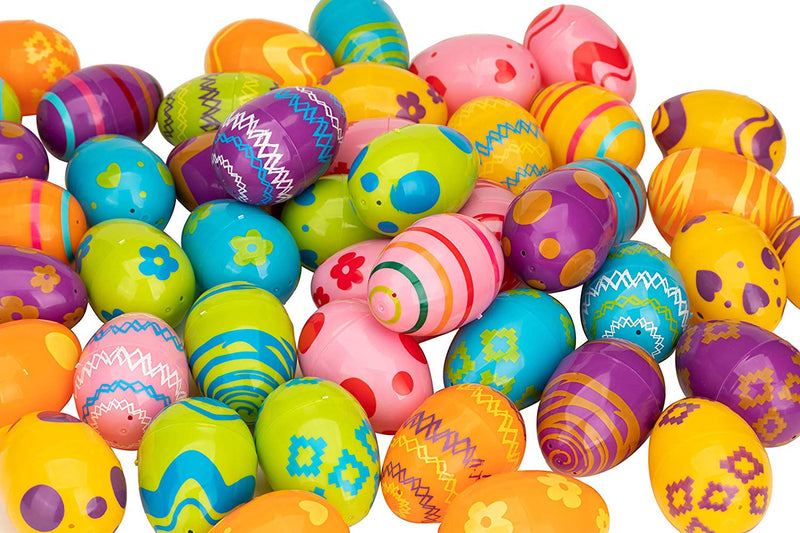 "48 PCS 3.15"" ASSORTED COLOR FILLABLE EASTER EGG"