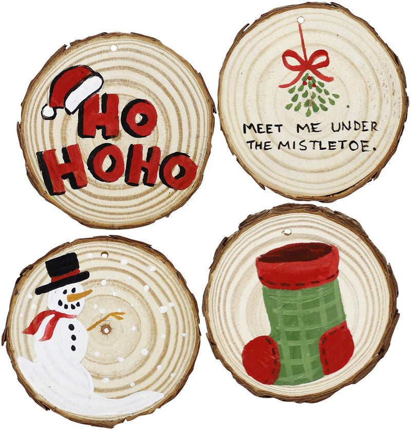 32 Piece Natural Wood Slices DIY Christmas Ornament