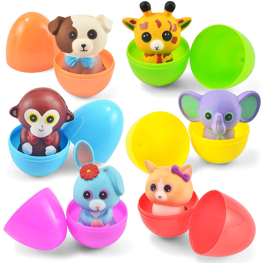6Pcs Jumbo Size Toys Filled Easter Eggs
