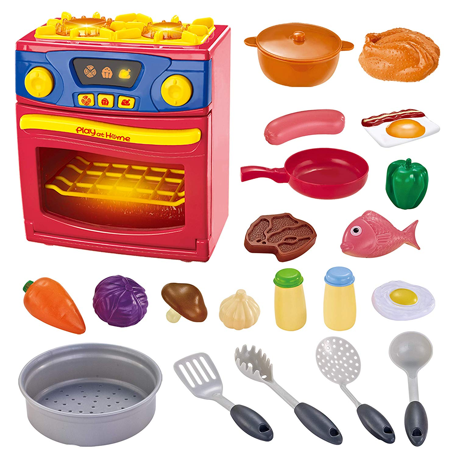21 Piece Play Kitchen Oven Cooking Pretend Play