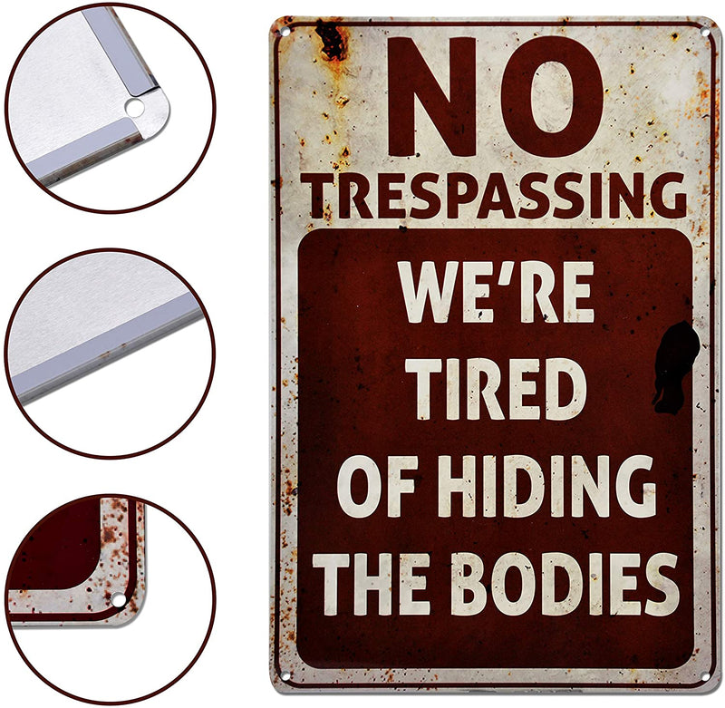 No Trespassing Halloween Signs