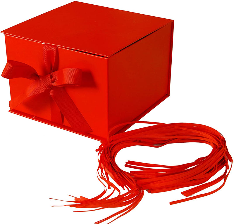 Gift Box with Fill Solid Red Color