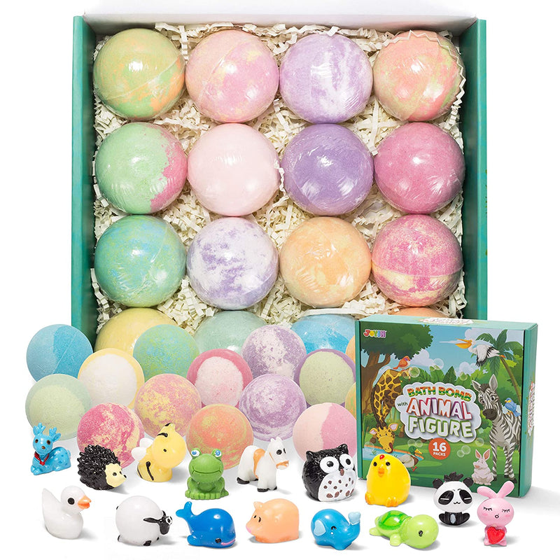 Bath Bombs for Kids with Animal Figures