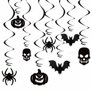 Halloween Party Gothic Swirls and Wall Decorations Set